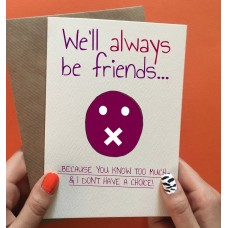 "Postkaart ""Always be friends"""