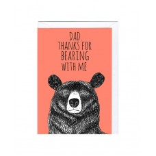"""Postkaart """"Dad. Thanks for bearing with me!"""""""