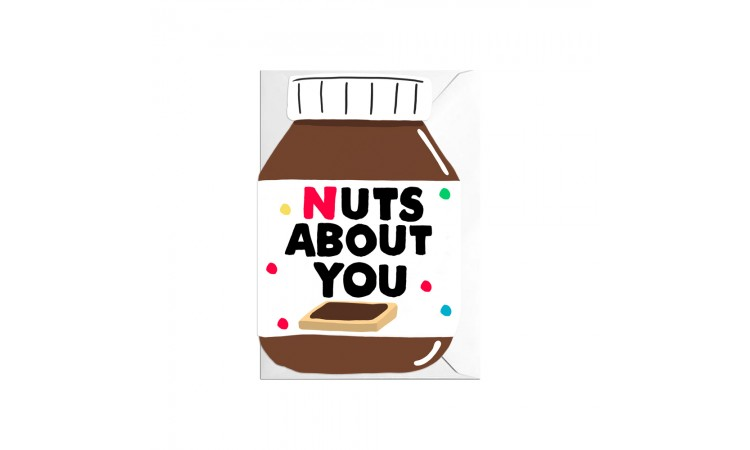 "Postkaart ""Nuts about you"""