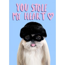 "Postkaart ""You stole my heart"""