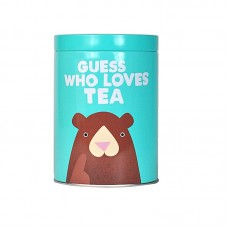 "Metalllist kaanega pruk ""Quess who loves tea"""