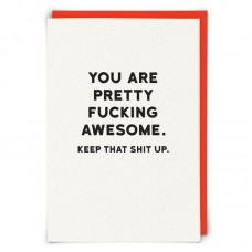 """Postkaart """"You are pretty f... awesome"""""""