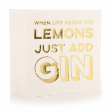 "Salvrätikud ""When life hands you lemons just add gin"""