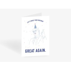 """Postkaart """"Let´s make your birthday great again"""""""