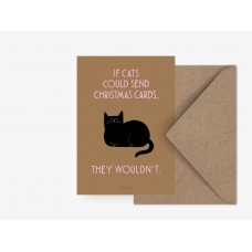 """Jõulukaart """"If cats could send Christmas cards..."""""""
